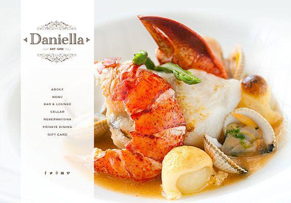 SALE wordpress website web design for food & by MadameLevasseur