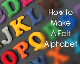 Felt magnetic alphabet, no machine required. I already have the magnetic board from Ikea.