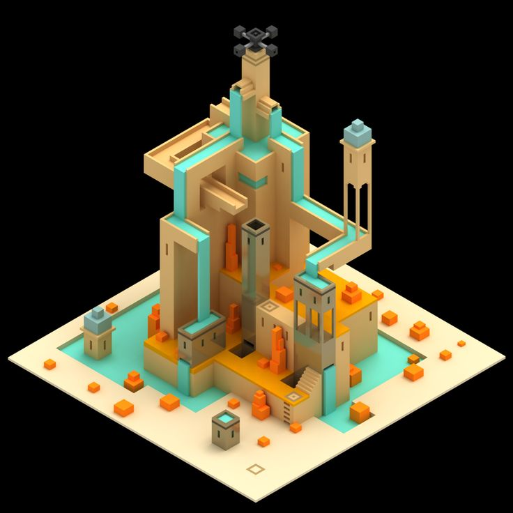 another #monumentvalleygame scene by MagicaVoxel...