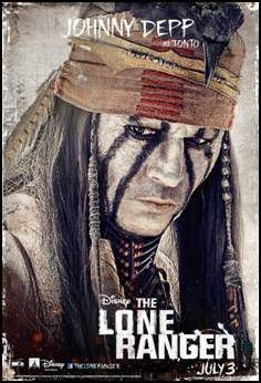 Johnny Depp character poster for July 3 release, THE LONE RANGER.