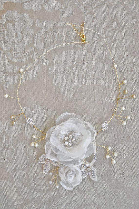 Wedding Jewelry Handmade Bridal Fabric by SkatingInspirations, $64.00