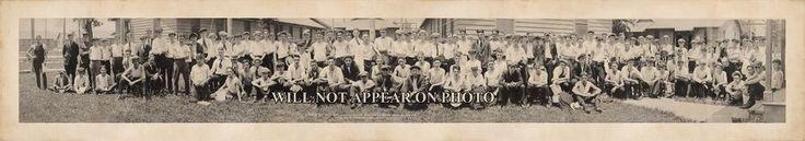 "1920 Hampton Roads, VA Naval Training School 39"" Vintage Panoramic Photograph"