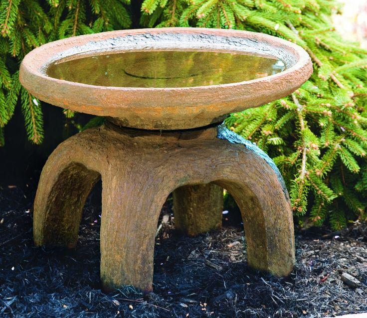 Oriental Stone Bird Bath - GardenSite.co.uk