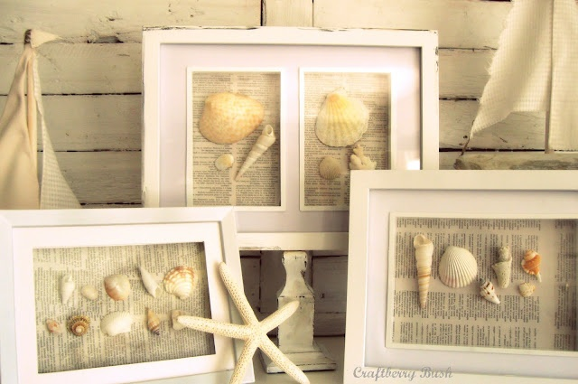 Pretty sea shell framed pictures from Craftberry Bush: We 'shell' have a good summer...