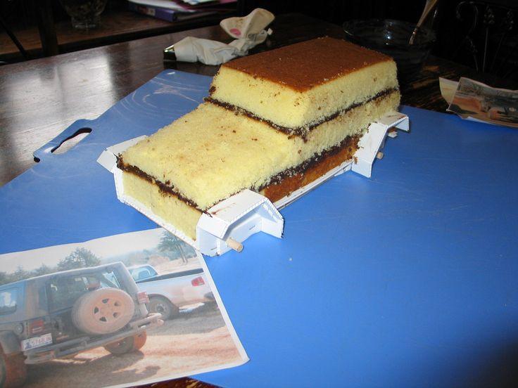 Jeep Wrangler Cake (Carved)   Flickr - Photo Sharing!