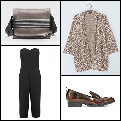 Print kimono @bershka ~~ Petites culotte jumpsuit @missselfridge ~~ Quilted detail leather bag @andotherstories ~~ Moonlight leather loafers @asos