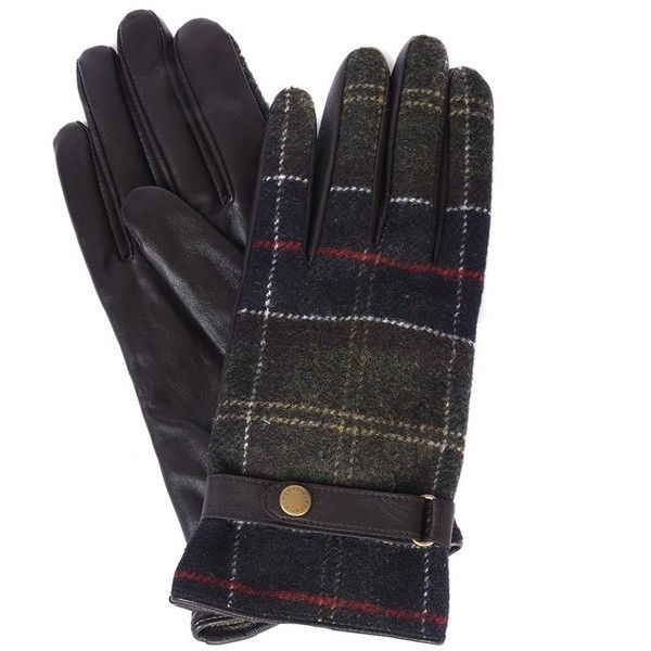 Women's Barbour Tartan and Leather Gloves - Brown (4.695 RUB) ❤ liked on Polyvore featuring accessories, gloves, barbour, brown leather gloves, barbour gloves, leather gloves and brown gloves