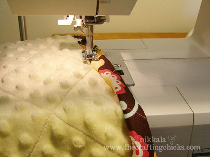 simple minky quilted baby blanket03