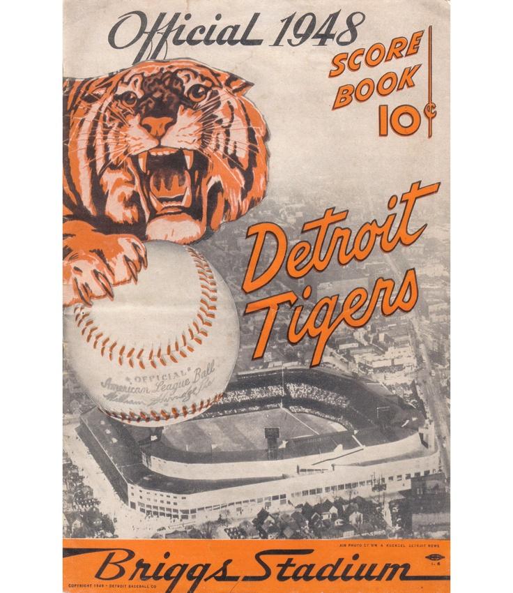 Old vintage Detroit Tiger Scorebook