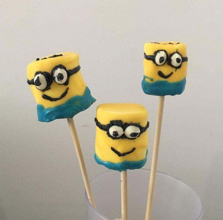 Marshmallow decorado dos Minions