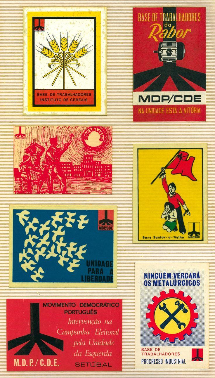 1302 - M.D.P. / C.D.E. - (O Movimento Democrático Português / Comissão Democrática Eleitoral (MDP / CDE) foi uma das mais importantes organizações políticas da Oposição Democrática ao regime do Estado Novo em Portugal, antes do 25 de Abril. Foi fundado em 1969, actuando através de comissões democráticas eleitorais, para concorrer às eleições legislativas.)