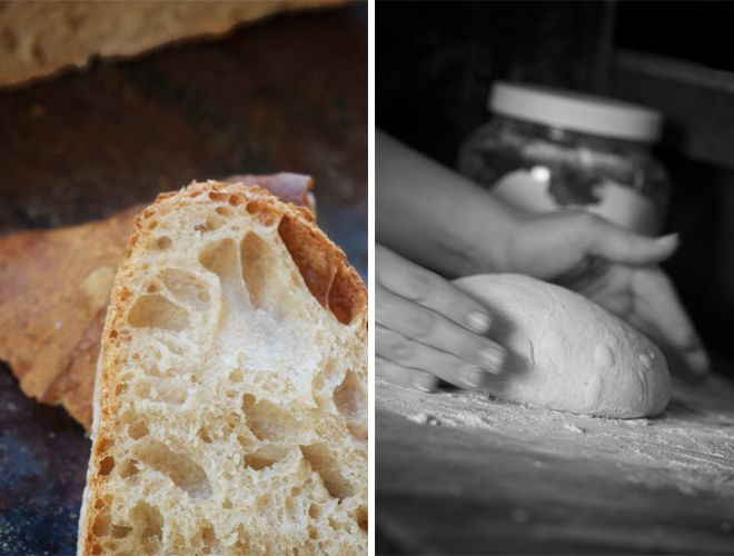 I have been looking for a sour dough recipe using fresh ground flour and she does use fresh ground grains, double sifts them to get the bran out.  Found out why my sour doughs were bricks that my chickens could not even eat by reading this article and the comments.  Will start a new starter and try again now that I have some reference point.