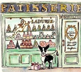 Its about Paris. Check out her earlier post. Her illustrations are worth the visit, and far less expensive then airfare.