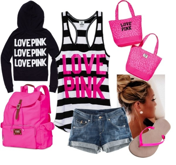 Pink on Campus, created by qtpiekelso on Polyvore