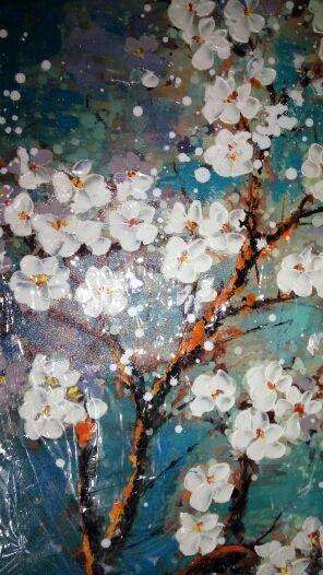 Pintado à mão abstrata moderna flor da arte da lona decoração de pintura a óleo parede Pictures para sala de estar pintura Loja Online   aliexpress móvel