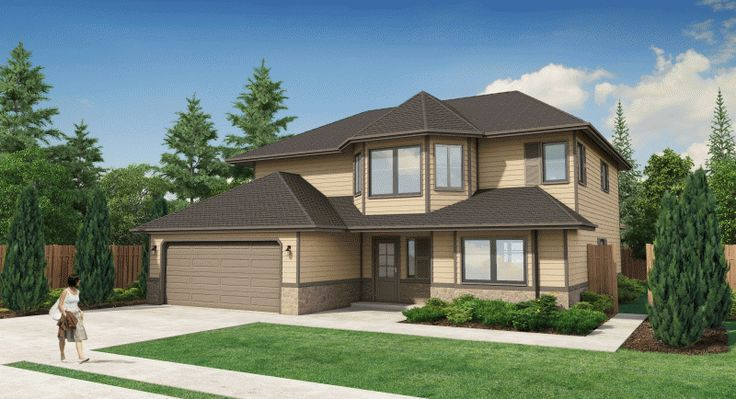 Plan No. 200290 - This plan incorporates a number of bay windowed areas, offering an exciting challenge to the interior decorator. There is ample closet and storage space throughout this design, and the generous-sized rooms are well-placed according to function.