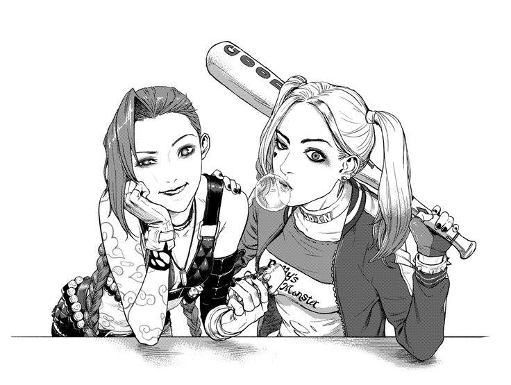 Jinx and Harley Quinn