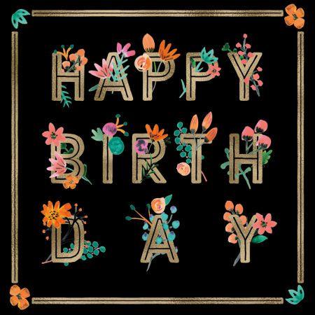 Rebecca Prinn - RP Bold Floral Type Happy Birthday