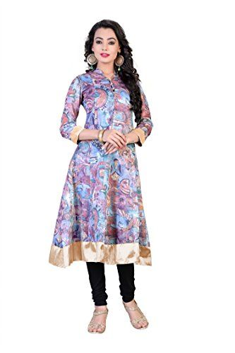 New Arrival Printed Chanderi Semi-Stitched Anarkali Kurti Dress THEEMPIRE http://www.amazon.in/dp/B01CLGG2OI/ref=cm_sw_r_pi_dp_jWs3wb038ARZR