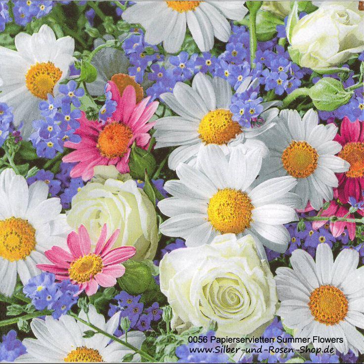 Papierservietten Summer Flowers
