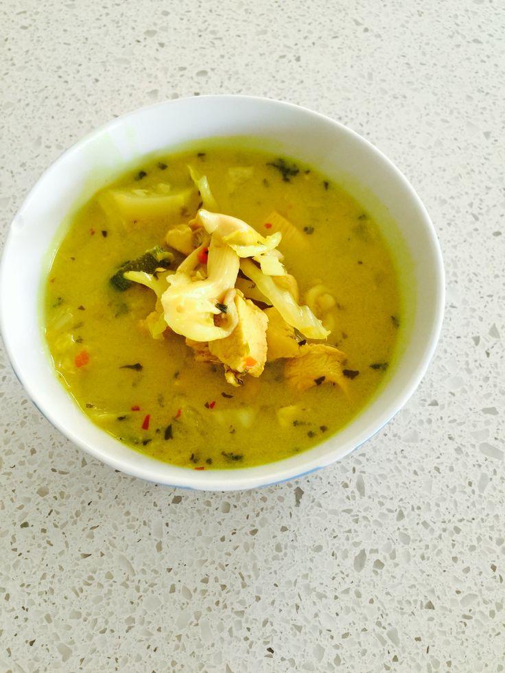 Spicy Lemon Coconut Chicken soup