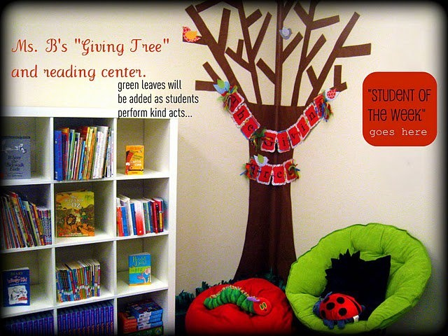 Classroom Giving Tree Ideas ~ My reading corner i want to make the giving tree again