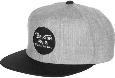 Brixton Wheeler Snapback Hat Light Heather Grey/Black One Size
