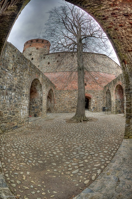 Inner yard of Olavinlinna Castle