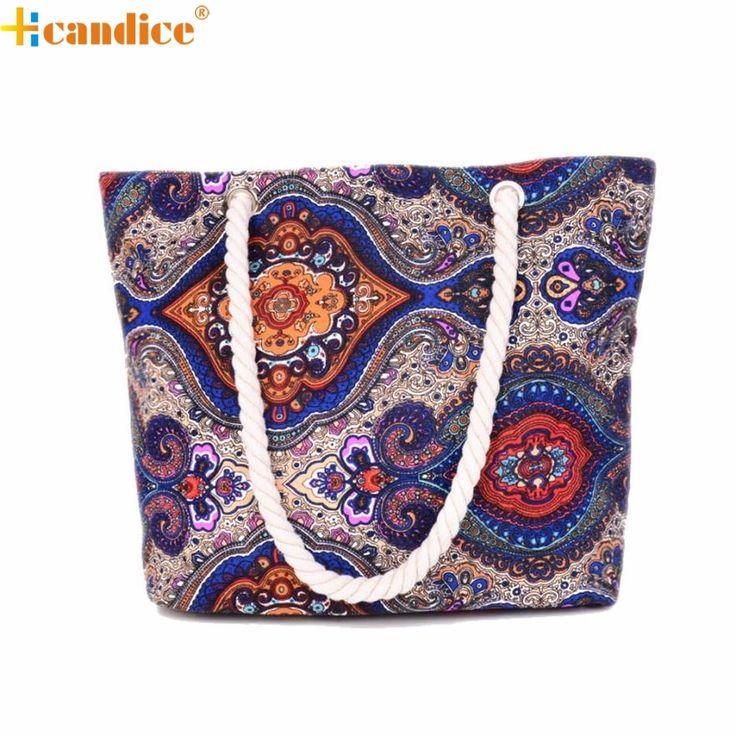 Hcandice Women Canvas Handbag Tote Messenger Beach Shoulder Satchel Bag Best Gift Wholesale Jan3