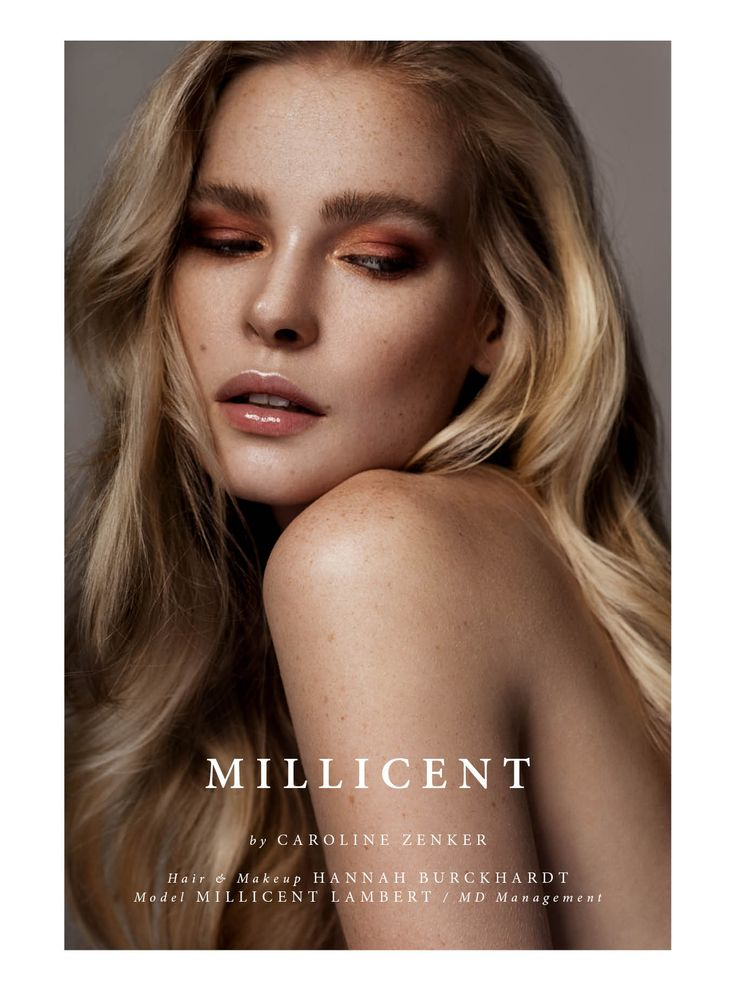 Millicent - Photographed by Caroline Zenker Hair & Makeup Hannah Burckhardt Model Millicent Lambert / MD Management