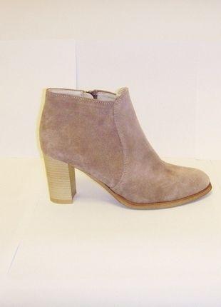 Kup mój przedmiot na #vintedpl http://www.vinted.pl/damskie-obuwie/botki/13411173-botki-na-slupku-skora-naturalna-zamsz-taupe-37