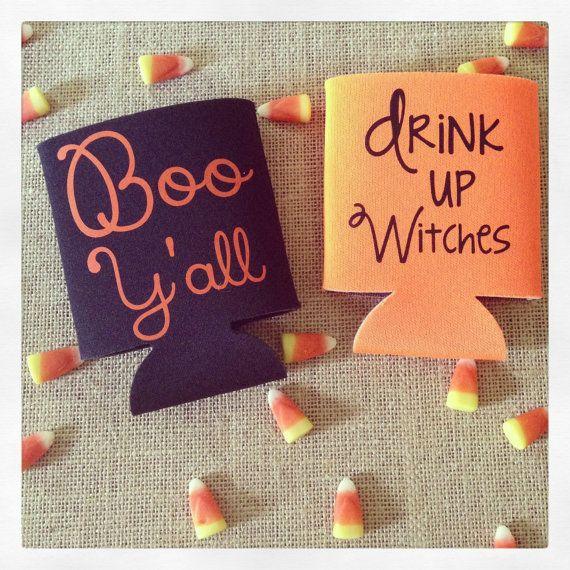 Halloween koozie @Christina McCartney I think we need these for Halloween this year haha