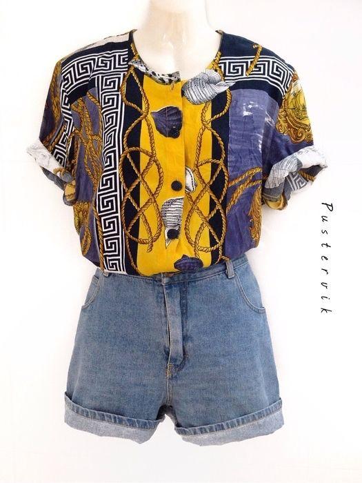 Mein Maritime 80er Vintage Bluse Muschel Muster Fashion Statement von true vintage! Größe 42 / M für 24,00 €. Sieh´s dir an: http://www.kleiderkreisel.de/damenmode/blusen/135512617-maritime-80er-vintage-bluse-muschel-muster-fashion-statement.
