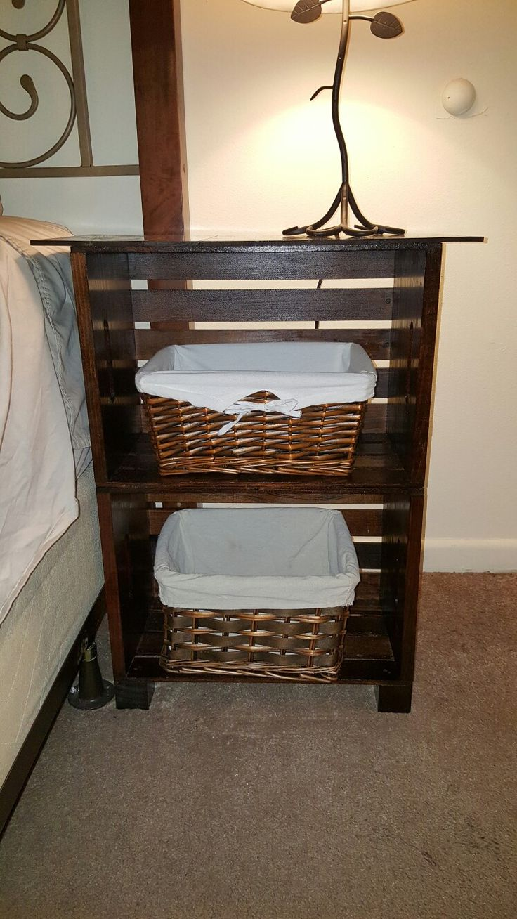 Best 10 crate nightstand ideas on pinterest diy for Homemade nightstand ideas