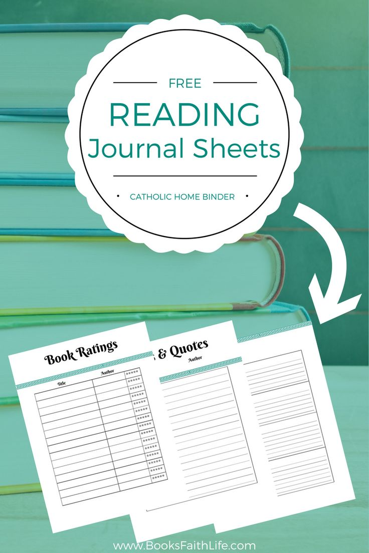 Reading journal templates, printable journal sheets, and ...  |Journals For Adults