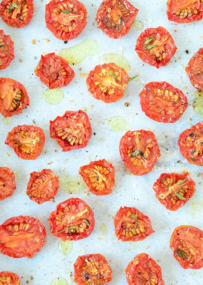 Gedroogde tomaatjes uit de oven - Laura's Bakery