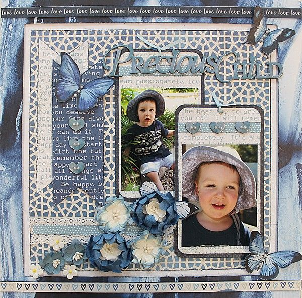 Precious Child - single page from Paper Roses Scrapbooking ♥ ♥ ♥
