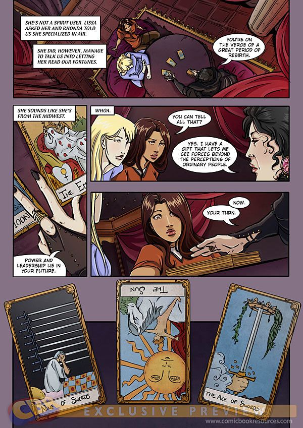 Preview of the Vampire Academy: Shadow Kiss graphic novel by Emma Vieceli.