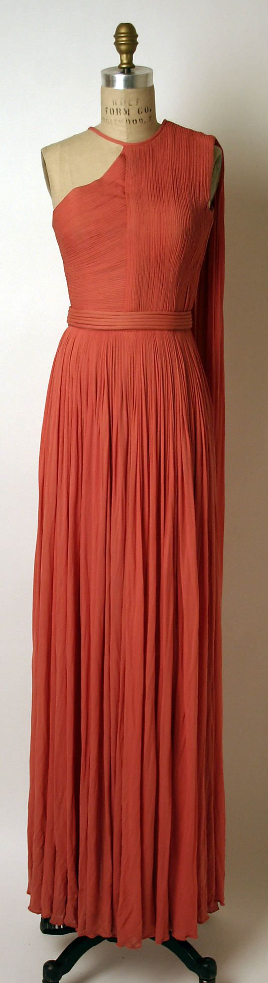 Dress Madame Grès (Alix Barton) (French, Paris 1903–1993 Var region) Date: ca. 1967 Culture: French Medium: a,b) silk