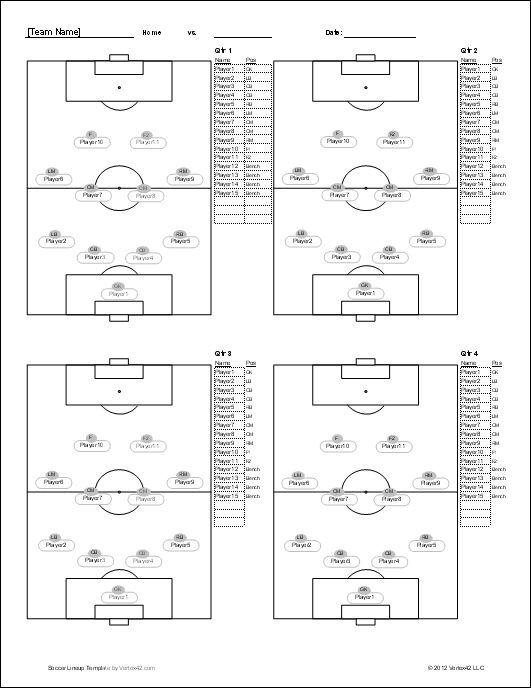 soccer player set up sheets