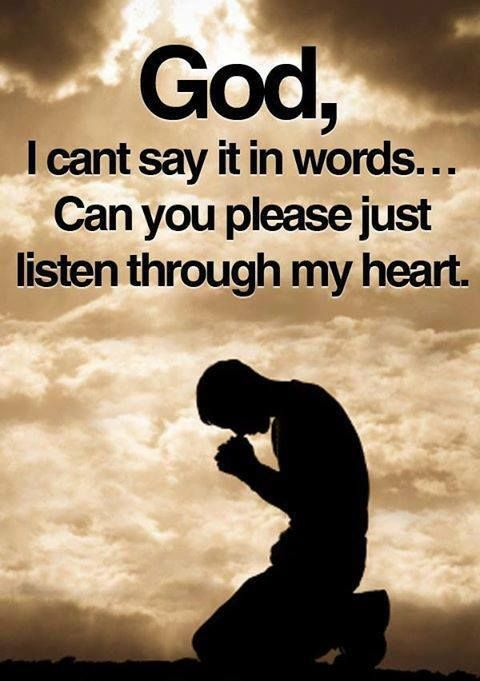 For times when I have a prayer concern but am uncertain how to express my need with words