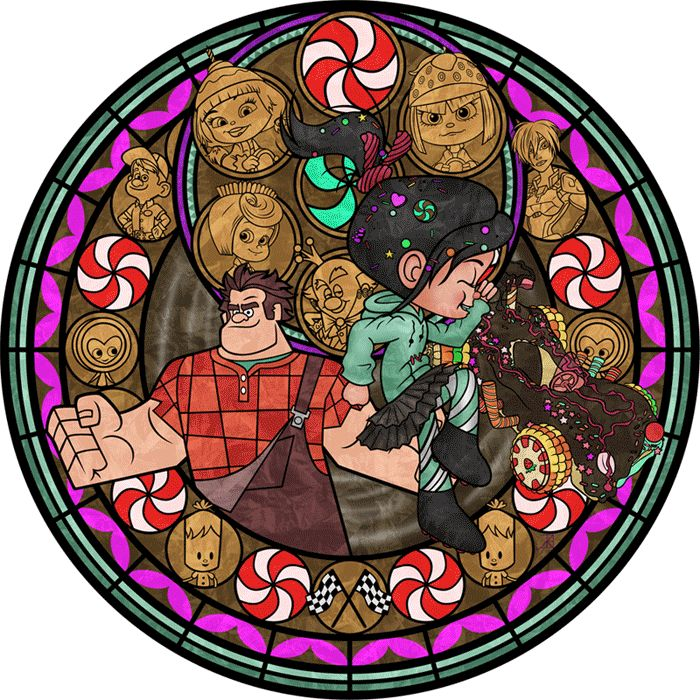 Vanellope Stained Glass -Animated- by *Akili-Amethyst on deviantART. Click on it for the animation