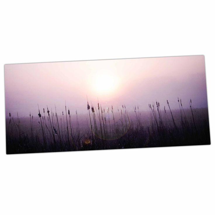 "Angie Turner ""Sunrise Cattails"" Purple Gold Desk Mat"