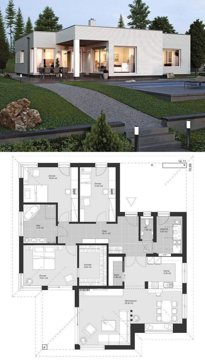 147 Modern House Plan Designs Free Download 3d House Plans Sims House Plans House Layout Plans