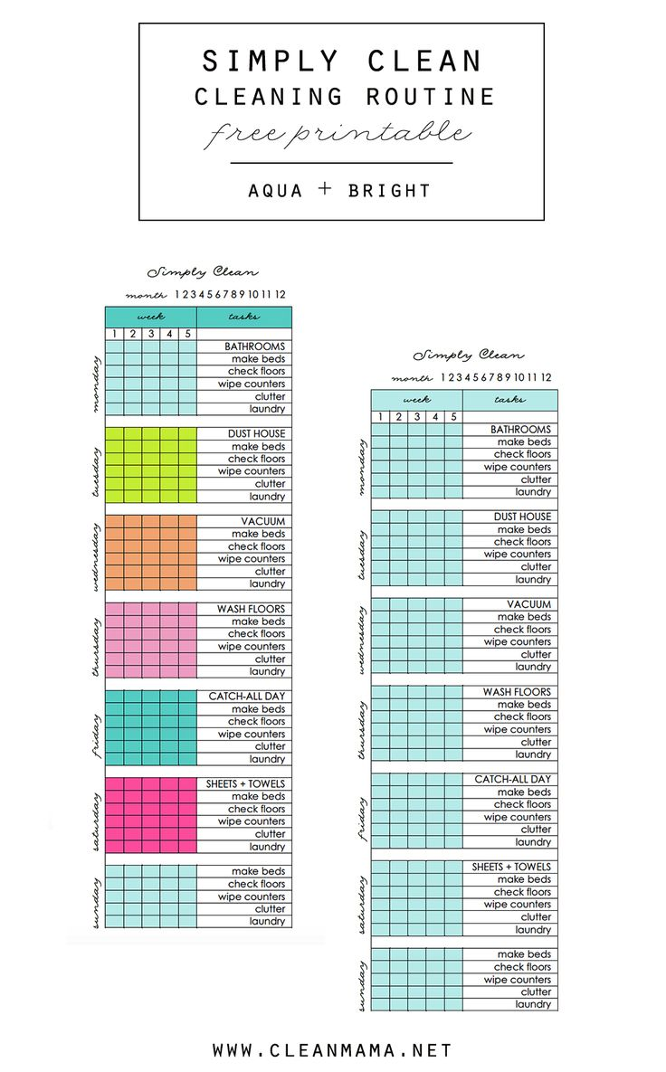 Looking for a fresh start and new cleaning routine? Check out this free printable to post and keep you accountable.