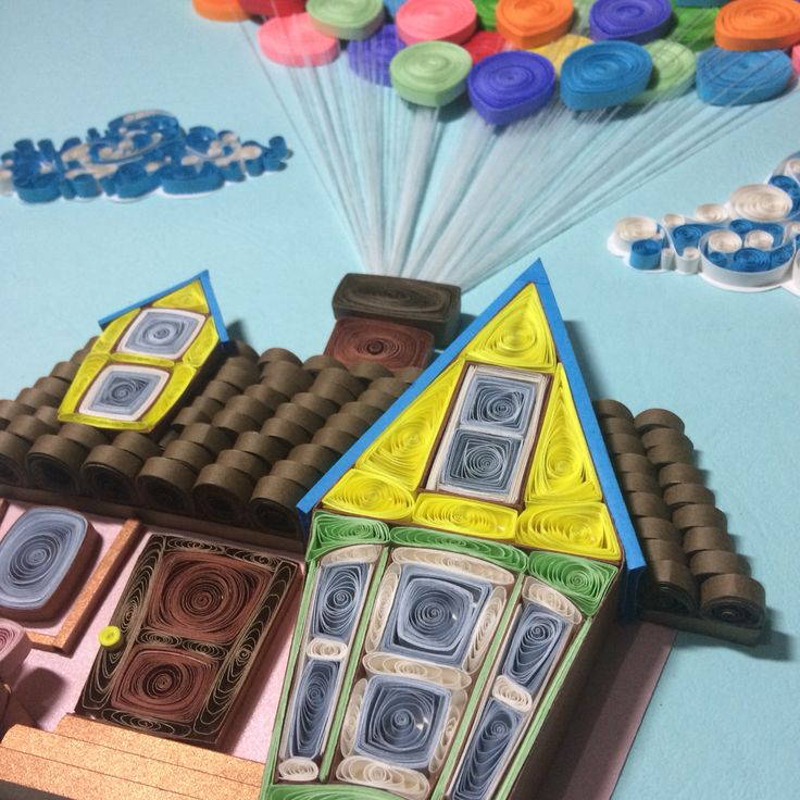 Inspired by Disney's Up movie Paper Quilling Art ----------------------------------- Facebook: Twists and Curls Unlimited Instagram: twistsandcurlsunlimited Email Ad: twistsandcurlsunlimited@gmail.com