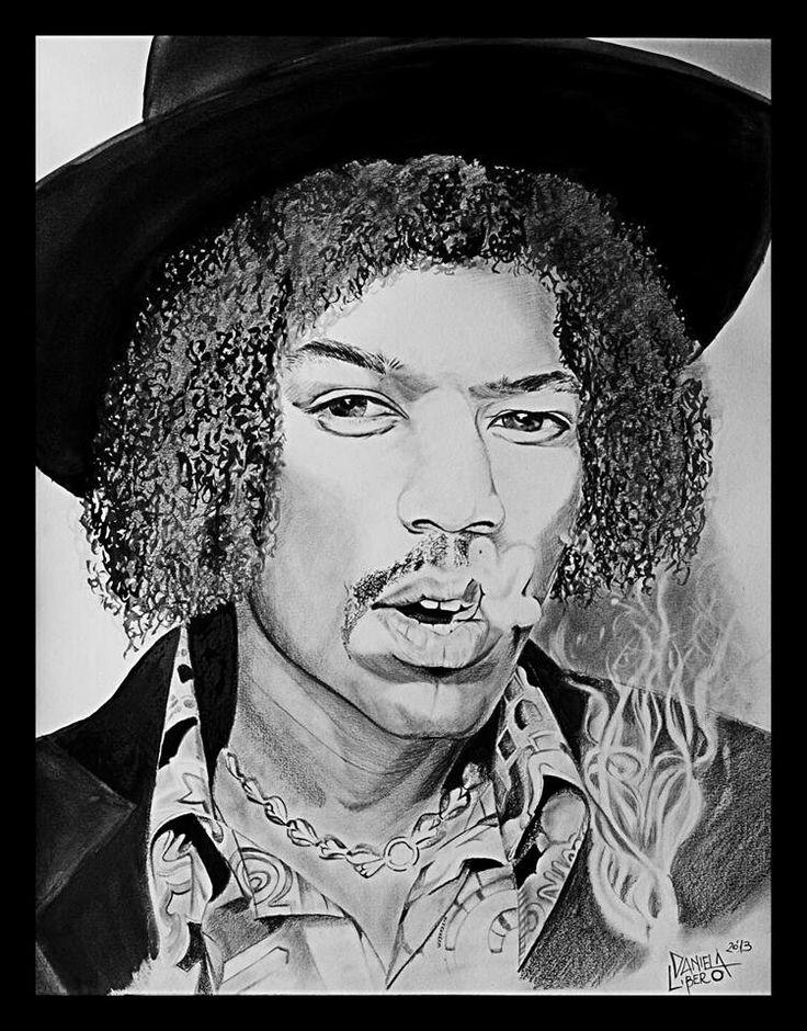 Jimi Hendrix - pencil on paper