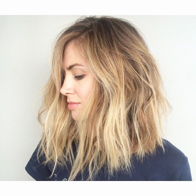 Mid lenght blunt cut with classic all over balayage. #hairbyerikjohn