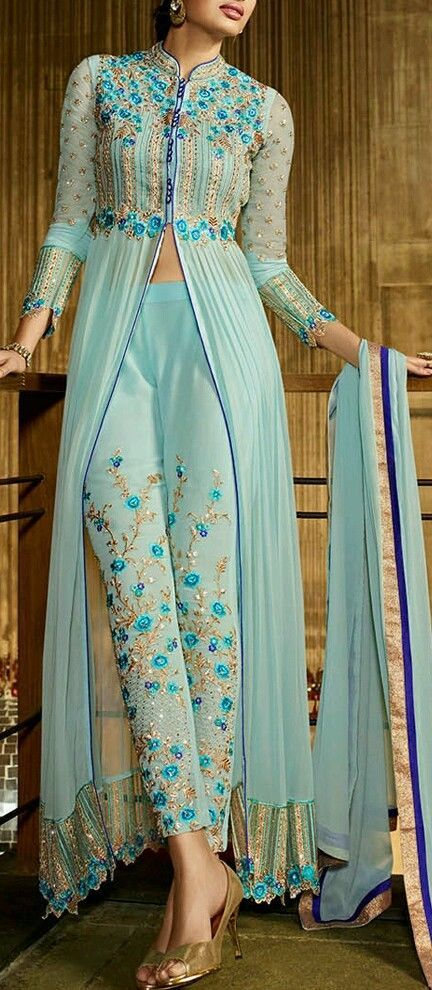 DESIGNER INDIAN/PAKISTANI ANARKALI /SALWAR KAMEEZ. SEMI STITCHED FOR ANY SIZE