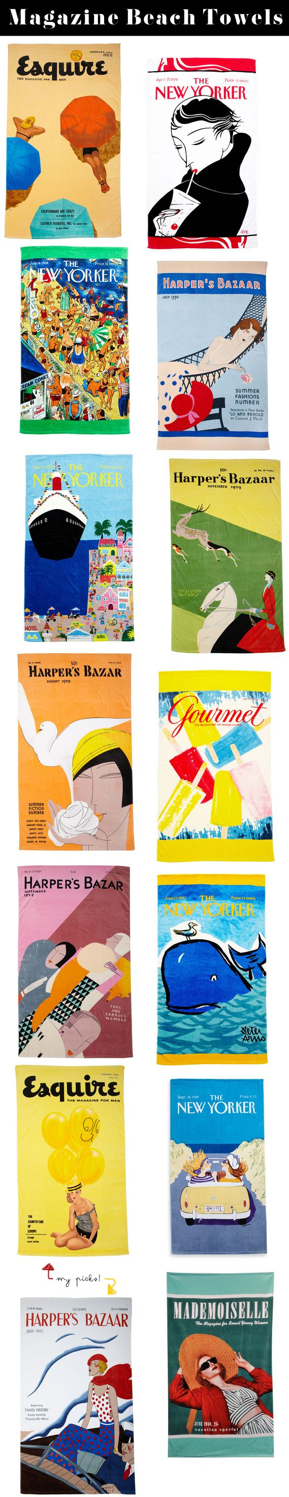 Vintage Magazine Cover Beach Towels « Spearmint Decor